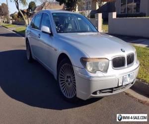 BMW  735Li 2002 Silver Black interior for Sale