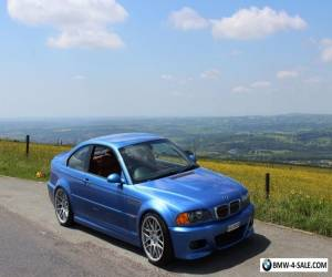 BMW E46 M3 IN ESTORIL BLUE WITH CINNAMON INTERIOR -SMG- FSH, MOT MARCH 2018 for Sale