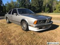 1988 BMW 6-Series 635csi