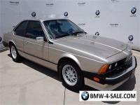 1987 BMW 6-Series 635CSI