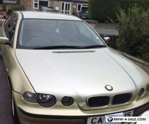 BMW 316 compact.02 reg. MOT till 27th of February 2018 .Runs well spares or reps for Sale