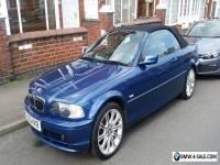 BMW 318 SE Convertible, 2.0, 2002, Blue