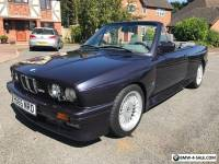 BMW E30 M3 CONVERTIBLE IN MACOU BLUE WITH EXTENDED GREY LEATHER CLASSIC