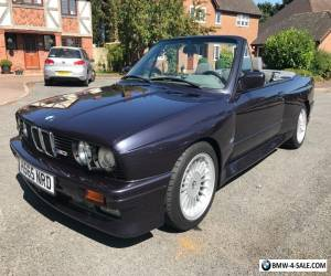 BMW E30 M3 CONVERTIBLE IN MACOU BLUE WITH EXTENDED GREY LEATHER CLASSIC  for Sale