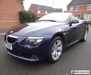 2007 BMW 6 SERIES 3.0 630i AUTO 2DR STUNNING CONVERTIBLE AUTO TOP SPEC LOOK!! for Sale