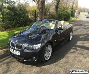 2008 BMW 330I M SPORT E93 CONVERTIBLE AUTO BLACK, FULL YEAR MOT + SERVICE + HPI for Sale