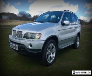 2001 BMW X5 4.4 SPORT 5DR V8 4X4 SILVER BLACK LEATHER NAVIGATION for Sale