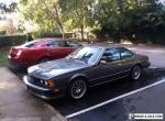 1987 BMW 6-Series CSI for Sale