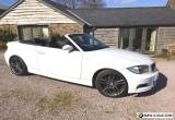 BMW 1 series 120D M SPORT CONVERTIBLE WHITE Low Mileage for Sale