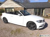 BMW 1 series 120D M SPORT CONVERTIBLE WHITE Low Mileage