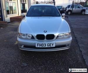 2003 BMW 520 2.2i ES SE SILVER EXCELLENT CONDITION MOT DEC.NICE CAR. for Sale