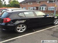 Black BMW 1 series 118 .2lt diesel 2007 sold with privet Reg