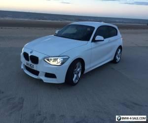 BMW 120D M SPORT AUTO WHITE 2013 63 REG 3DR for Sale