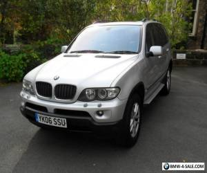 06 06 BMW X5 3.0 D SE AUTO - SILVER-GREY LEATHER-84000 MILES ONLY-1 OWNER FSH## for Sale