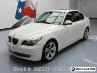 2010 BMW 5-Series 528I SPORT AUTOMATIC HEATED SEATS SUNROOF
