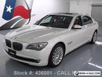 2012 BMW 7-Series 750LI XDRIVE AWD LUX SEAT PKG SUNROOF NAV