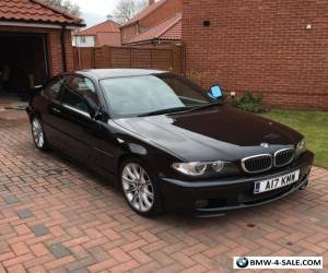 2004(04BMW 320CI M SPORT COUPE.....COSMOS BLACK-GREYLEATHER....STUNNING for Sale