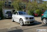 2007 BMW 1 SERIES 2.0 120d M Sport 3dr SILVER, Leather, SatNav, Full BMW Service for Sale