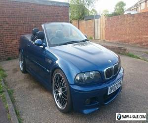 """BMW M3 SMG2 CONVERTIBLE, SATNAV, BLACK LEATHER, 19"""" STAGGERED ALLOYS, REMAPED for Sale"""